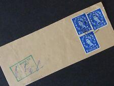 36] Stamps Great Britain - Queen Elizabeth 11 1952 Sg 516 - 1d x3 On Paper