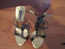 vince camuto gold shoes with rainbow stones  7 great for party new
