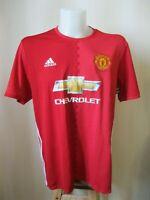 Manchester United 2016/2017 Home Size XL Adidas football soccer shirt jersey