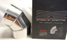 """SPECTRE 9768 4"""" OD 60 degree Polished Fabricated Aluminum Cold Air Intake Tube"""