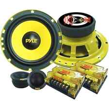 6.5-Inch 400-Watt 2-Way Custom Component System Car Speakers Audio Rear Kit, New