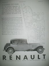 PUBLICITE DE PRESSE RENAULT NERVASTELLA 8 CYL AUTOMOBILE FRENCH ADVERTISING 1930