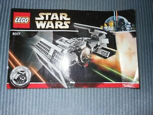 Lego Instruction Manual, Star Wars 8017 Manual Only Good Condition.