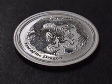 2012 1 oz Year of the Dragon Silver Coin - Lunar Series II