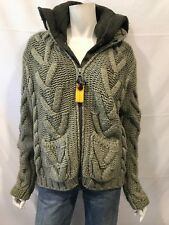 PARAJUMPERS medium hooded knitwear sweater jacket lined Para Jumpers Fall