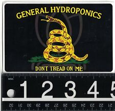 GENERAL HYDROPONICS STICKER General Hydro Grow Weed Bud 4.75 in x 3 in Decal