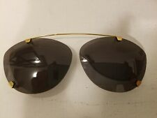 Vintage Eclips Clip On Sunglasses Custom in Orig Leather Snap Case Mint $160.00