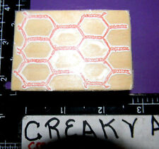 CHICKEN WIRE FENCE SMALL RUBBER STAMP RAINDROPS ON ROSES RETIRED