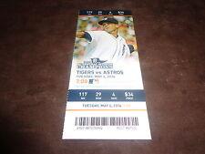 Detroit Tigers~2014 TICKET STUB VS ASTROS 5/6/14~MLB DEBUT Robbie Ray