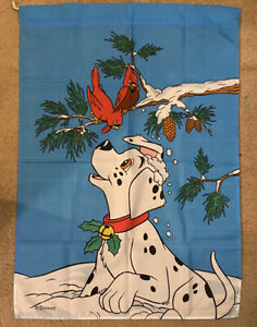 Disney 101 Dalmations Christmas Winter Yard Flag With Cardinals