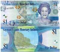 CAYMAN ISLANDS 1 DOLLAR 2018 QEII D/6 P 38 NEW SIGN UNC