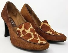 "Aerosoles womens pumps size 8 brown animal print fur 4"" heel"