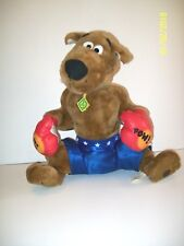 """Scooby-Doo Boxing Plush Blue With White Stars Boxing Shorts Cartoon Network 17"""""""