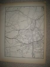ANTIQUE 1931 SOUTH & MANCHESTER HILLIARDVILLE HARTFORD COUNTY CONNECTICUT MAP NR
