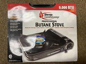 Sterno Candle Lamp Professional Butane 9000 BTU Heat Output Camp Stove - NEW