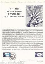DOCUMENT PHILATÉLIQUE - TÉLÉCOMMUNICATION - 1er JOUR 1984