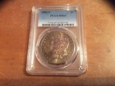 1880 S MORGAN DOLLAR PCGS MS65 NICELY TONED.....BEAUTY......