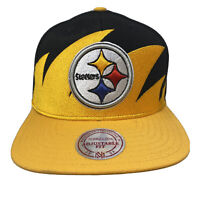 Mitchell & Ness PITTSBURGH STEELERS Wool Sharktooth Cap Hat Adjustable Fit NWT