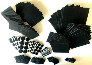 SQUARE,ROUND BLACK SOFT FELT PADS SELF ADHESIVE FLOOR PROTECTOR CHAIRS,SOFA LEGS