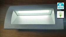 Modern Outdoor Garden Recessed Wall 3w Cool White LED Mini Brick Light X 2 PAIR