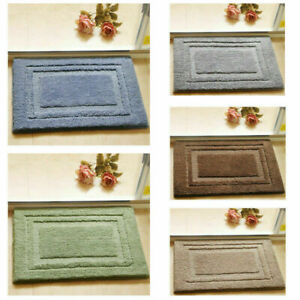 Anti-Slip Soft Door Mat Shaggy Area Rug Floor Carpet Bathroom Kitchen 3 Sizes