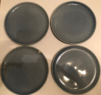 "Set (4) ONEIDA by Russel Wright 9-1/4"" Monitoga Blue LUNCH LUNCHEON PLATES"