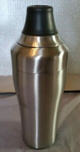 Oxo Stainless Steel Cocktail Shaker Shot Measure Double Wall Strainer 18 oz