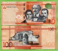 Republica Dominicana Banknotes 100 Pesos Oro 2016, P-190c  UNC