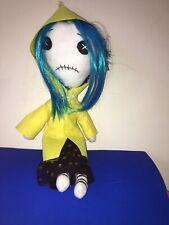 """Coraline Handmade Rag Doll  Ooak 16"""""""