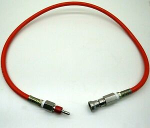"""3ft Weatherhead SAE 100R7-6 Thermoplastic 1/4"""" Hose with Swagelok QC4 Connectors"""