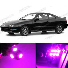 8 x Premium Hot Pink LED Lights Interior Package Kit for Acura Integra 1994-2001