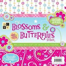 Blossoms & Butterflies Paper Stack 12X12 Scrapbooking