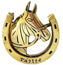 Polished Solid Brass Door Knocker Irish Horse Head and shoe Failte Ireland 7507