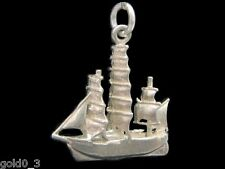 Sailing ship charm Sterling silver 925 charmmakers