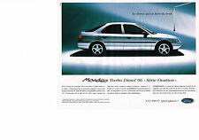 PUBLICITE ADVERTISING  1995   FORD  MONDEO  TURBO DIESEL