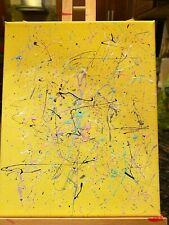 Painting, yellow, multicolor decor 8x10