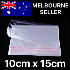 New listing 100x 10cm X 15cm 100mm X 150mm (10cm X 12cm + 3cm lip) cellophane bags seal