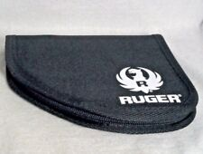 Ruger Compact Soft Padded Gun Pouch - For All Compact Hand Guns In Black