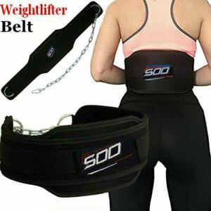 Dipping Belt Weightlifting Bodybuilding Back Support Dips/Ups Gym Training Belt