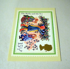 Vintage Post Office Christmas Postcards The Holly and The Ivy - unposted
