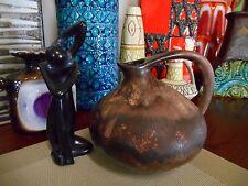 Retro Fat Lava 1960's vase, vintage Ruscha 313 West German mid century pottery