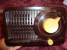 Vintage Stewart Warner 9160-AU Mantle Plastic Radio 1952 GUC Tested WORKS READ