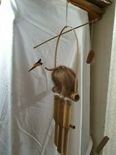 Hand Made Wooden Bamboo Coconut Bird Wind Chime