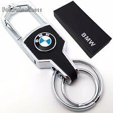 BMW portachiavi in metallo cromato, scatola regalo x5 m3 1 3 4 5 SERIE e30 320d z4 m5, NUOVO