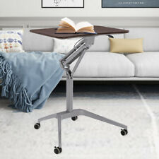 New listing Mobile Office Laptop Desk Rolling Adjustable Table Cart Computer Mobile Stand