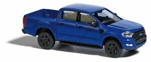 HO 1:87 Busch # 52803 - 2016 Ford Ranger Crew Cab Pickup Truck - Blue