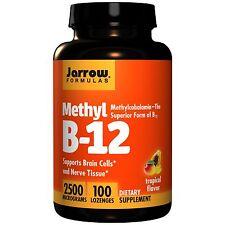 Jarrow Formulas Methyl B12, Tropical Flavor, 2500 mcg, 100 Lozenges, Vitamin B12
