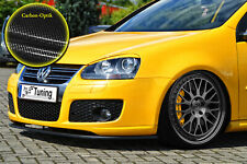 Spoilerschwert Frontspoiler Lippe VW GOLF 5 GTI GT Variant ABE Carbon Optik