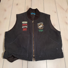 men 2XL tri mountain vest with logo black