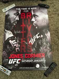 UFC 182 Jon Jones vs. Daniel Cormier Signed Poster SBC